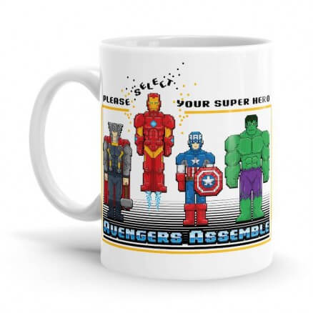 8 Bit Superheroes - Marvel Official Mug