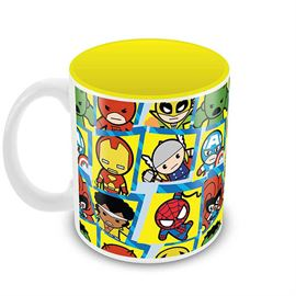 Avengers Characters Kavaii - Kawaii Art - Official Avengers Coffee Mug