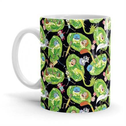 Portal Pattern - Rick And Morty Official Mug
