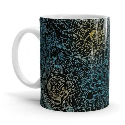 Wubba Lubba Pattern - Rick And Morty Official Mug