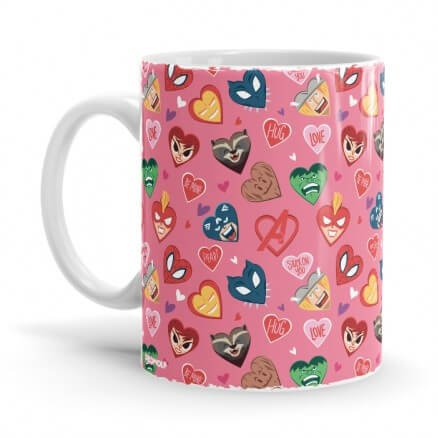 Marvel: Valentines Pattern - Marvel Official Mug