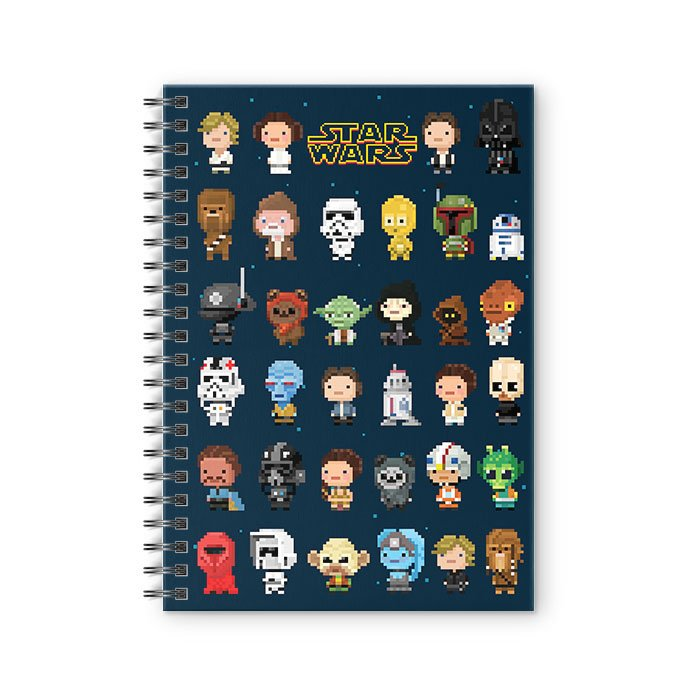 8 Bit Characters - Star Wars Official Spiral Notebook