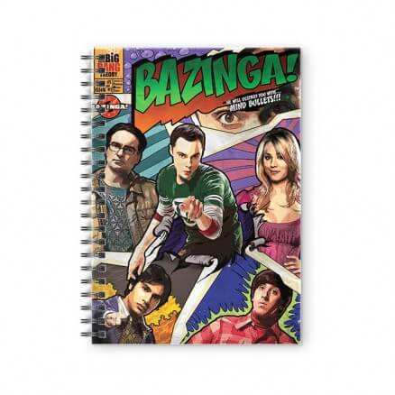 Bazinga Comic - The Big Bang Theory Official Spiral Notebook