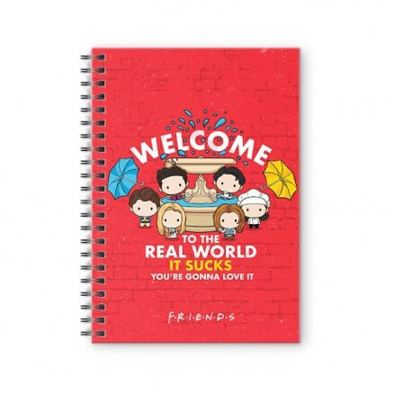Friends Fountain - Friends Official Spiral Notebook