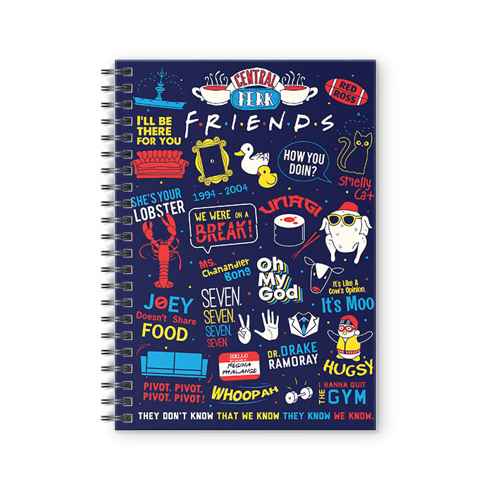 F.R.I.E.N.D.S Infographic - Friends Official Spiral Notebook