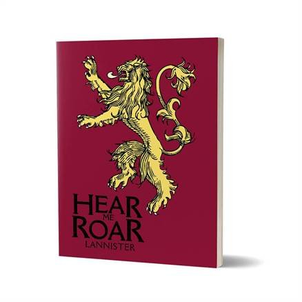 Hear Me Roar - Game Of Thrones Official Notebook