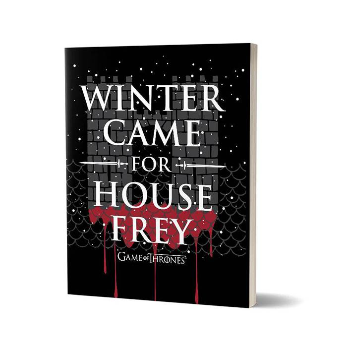 Winter Came For House Frey - Game Of Thrones Official Notebook