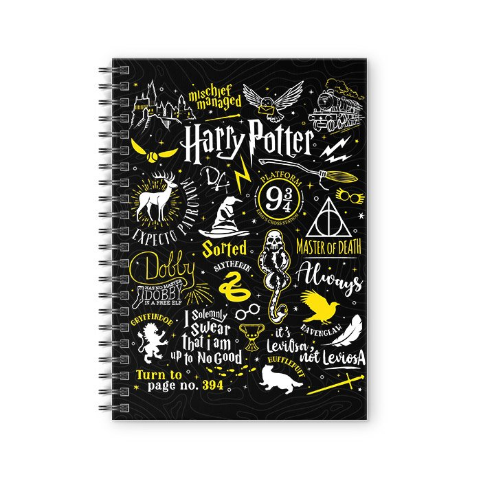 Harry Potter: Infographic - Harry Potter Official Spiral Notebook