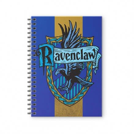 House Ravenclaw: Crest - Harry Potter Official Spiral Notebook