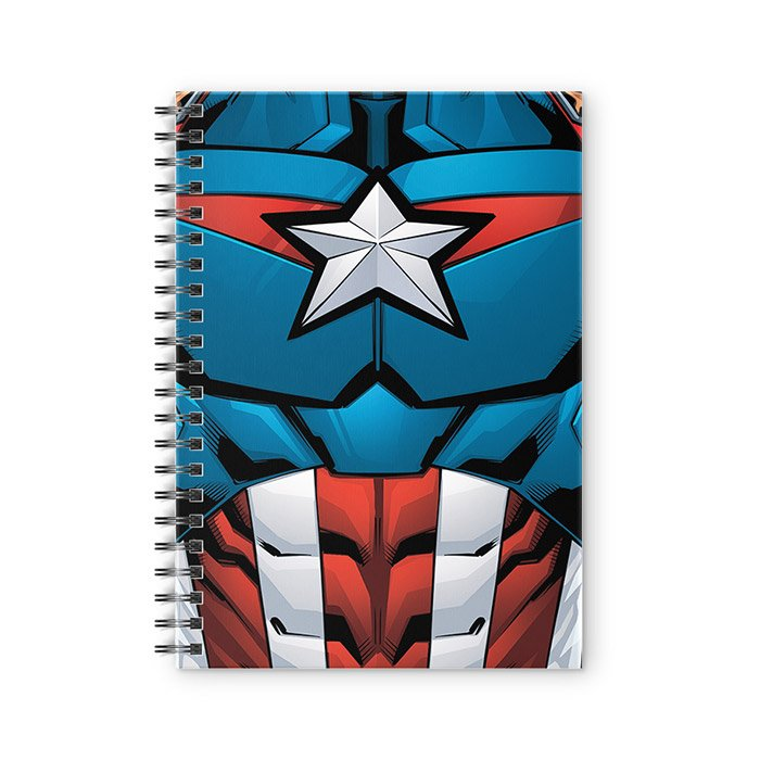 Captain America Suit - Marvel Official Spiral Notebook