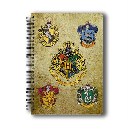 Harry Potter : Hogwarts House Crest 2 - Notebook