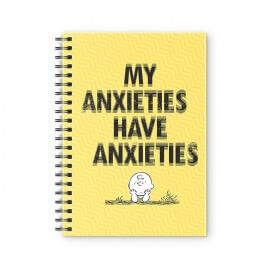 My Anxieties Have Anxieties - Peanuts Official Spiral Notebook