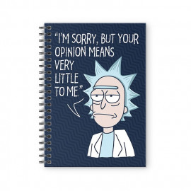 Rick's Opinion - Rick And Morty Official Spiral Notebook