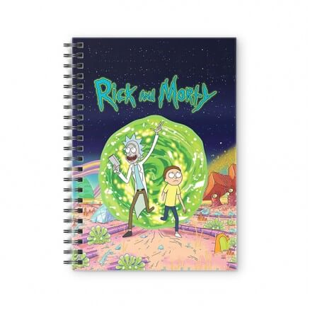 Ricksy Business - Rick And Morty Official Spiral Notebook