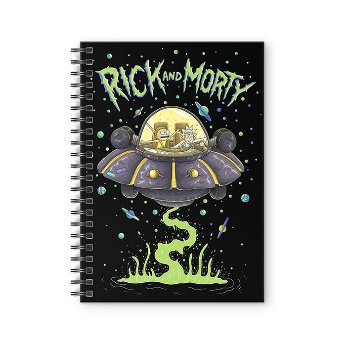 Space Cruiser - Rick And Morty Official Spiral Notebook