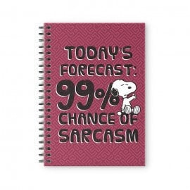 99% Chance Of Sarcasm - Peanuts Official Spiral Notebook