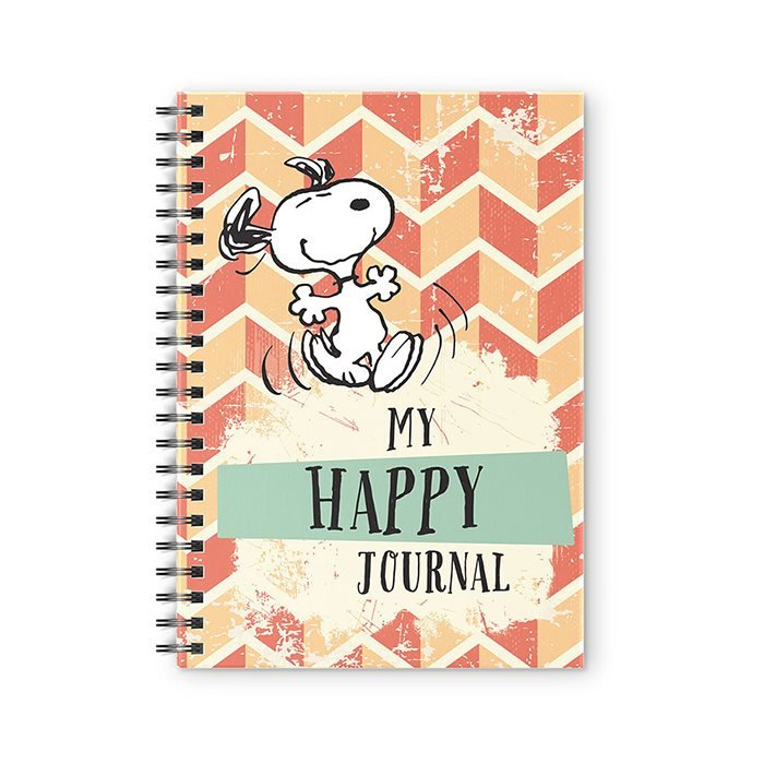 My Happy Journal - Peanuts Official Spiral Notebook