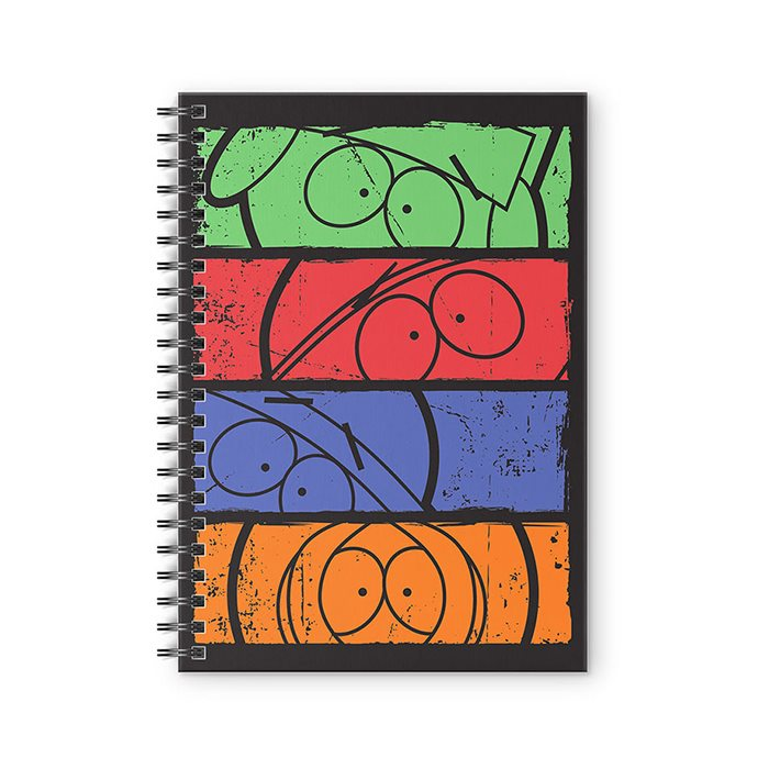 Minimalist Faces - South Park Official Spiral Notebook