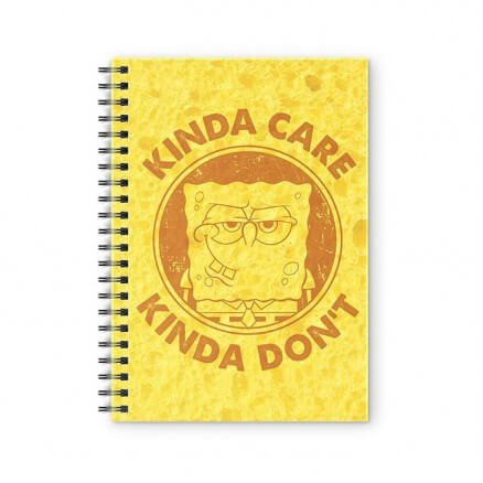 Kinda Care, Kinda Don't - SpongeBob SquarePants Official Spiral Notebook