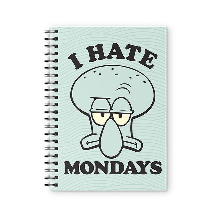 Squidward: I Hate Mondays - SpongeBob SquarePants Official Spiral Notebook