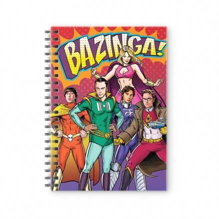 Superhero Gang - The Big Bang Theory Official Spiral Notebook
