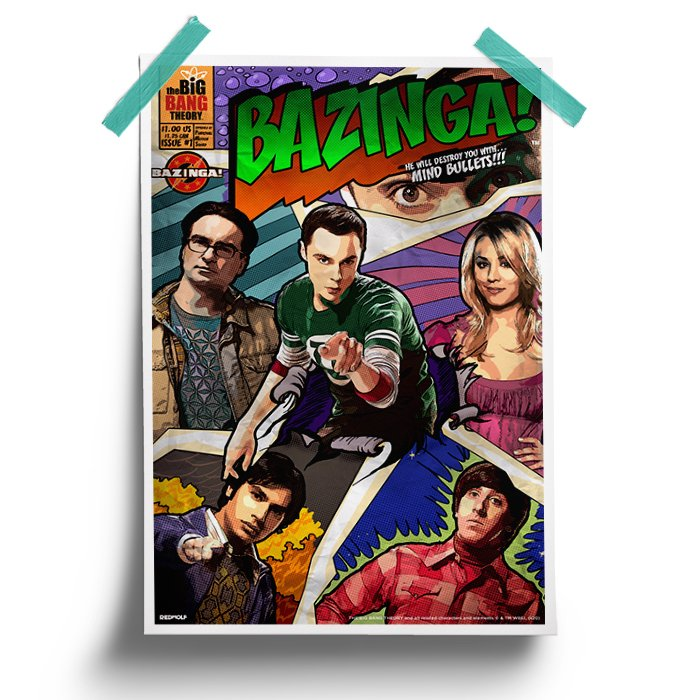 Bazinga Comic - The Big Bang Theory Official Poster