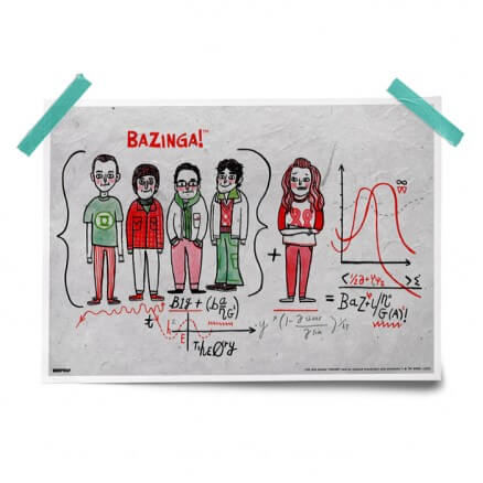 Bazinga Formula - The Big Bang Theory Official Poster
