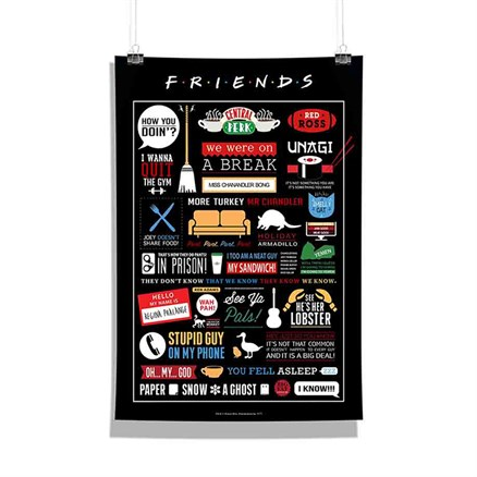 Friends: Infographic - Poster