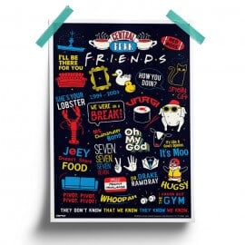 F.R.I.E.N.D.S Infographic- Friends Official Poster