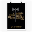 A Mind Needs Books - Game Of Thrones Official Poster