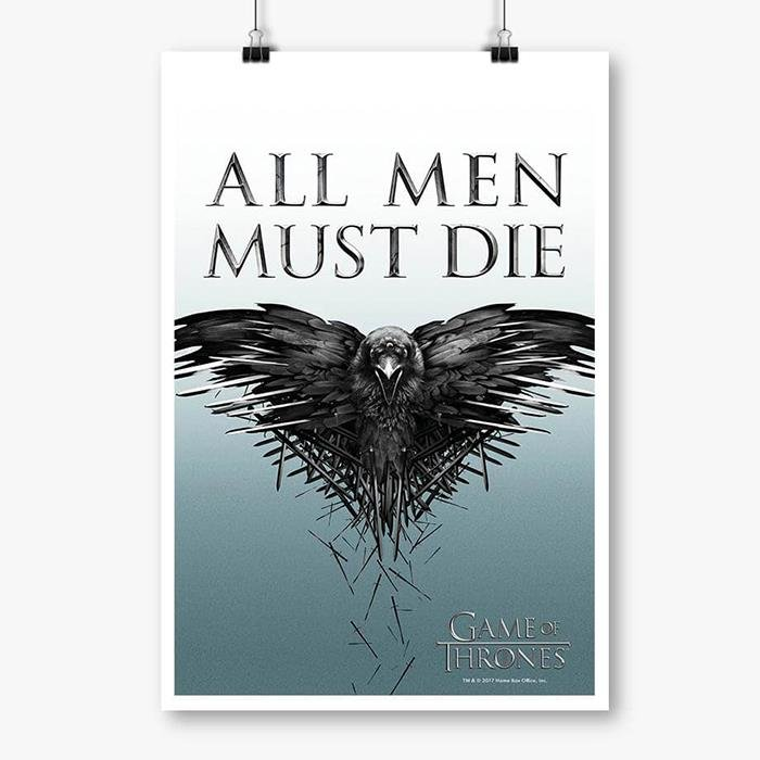 All Men Must Die - Game Of Thrones Official Poster