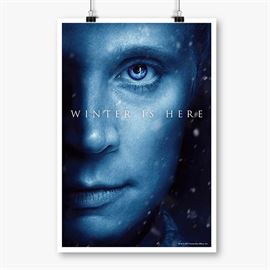 Brienne Of Tarth: Winter Is Here - Game Of Thrones Official Poster