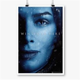 Cersei Lannister: Winter Is Here - Game Of Thrones Official Poster