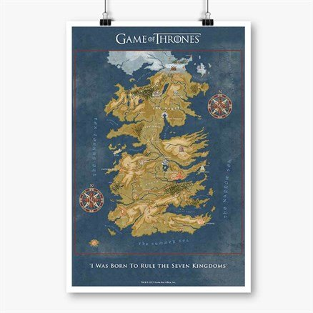 Cersei Lannister's Map - Game Of Thrones Official Poster