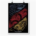 Crossed Sigils - Game Of Thrones Official Poster
