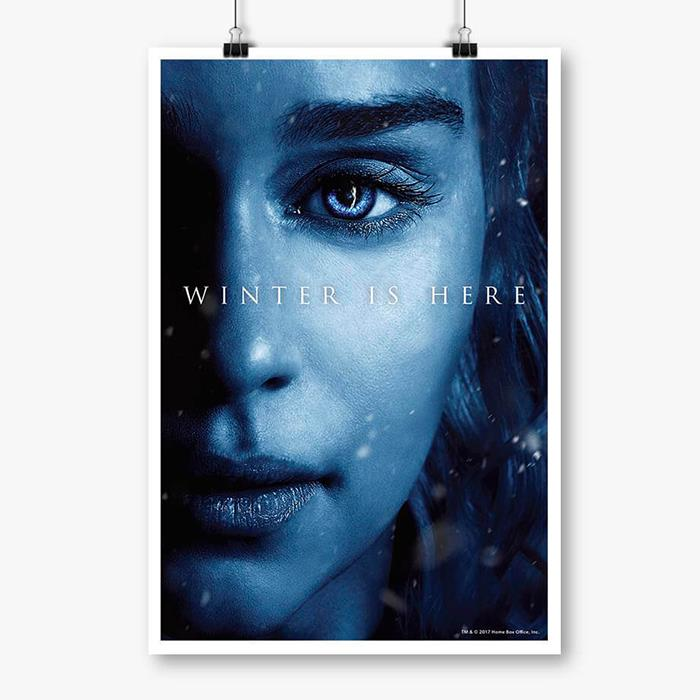Daenerys Targaryen: Winter Is Here - Game Of Thrones Official Poster