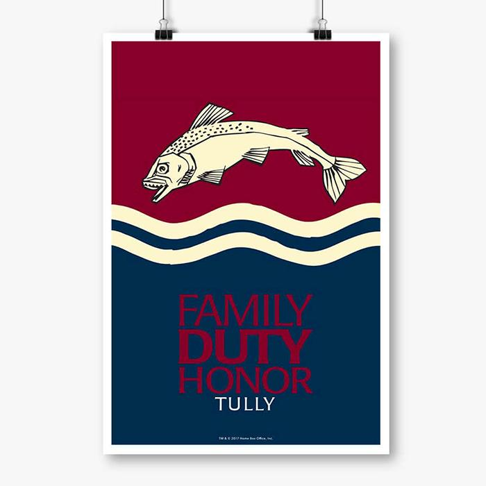 Family Duty Honor - Game Of Thrones Official Poster