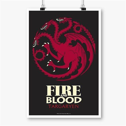 Fire and Blood - Game Of Thrones Official Poster