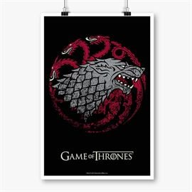 Fire, Blood and Ice - Game Of Thrones Official Poster