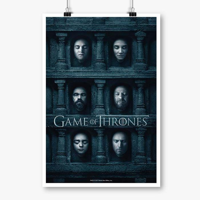 Hall OF Faces 2 - Game Of Thrones Official Poster