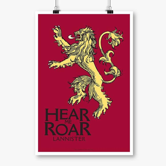Hear Me Roar - Game Of Thrones Official Poster