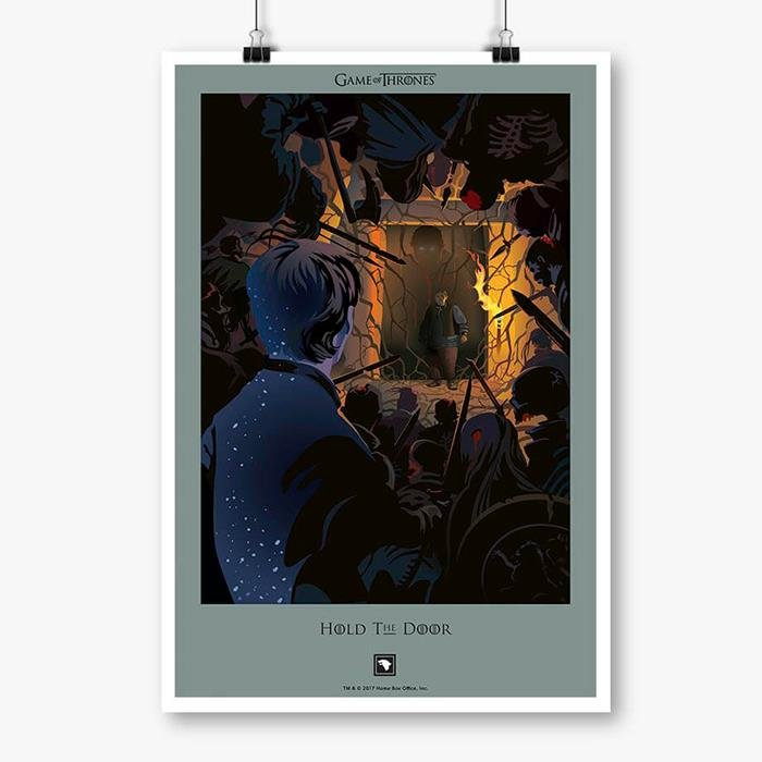 Hold the Door: Beautiful Death - Game Of Thrones Official Poster