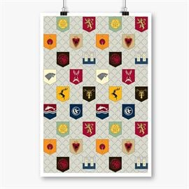 House Banner Pattern - Game Of Thrones Official Poster