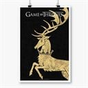 House Baratheon Sigil Design - Game Of Thrones Official Poster