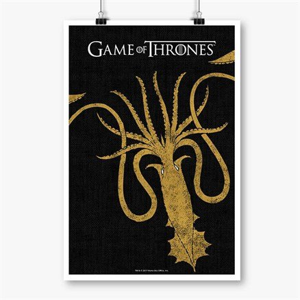 House Greyjoy Sigil Design - Game Of Thrones Official Poster