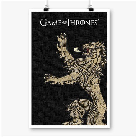 House Lannister Sigil Design - Game Of Thrones Official Poster