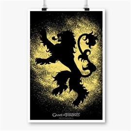 House Lannister Sigil Splatter - Game Of Thrones Official Poster