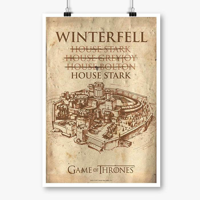 House Of Winterfell - Game Of Thrones Official Poster