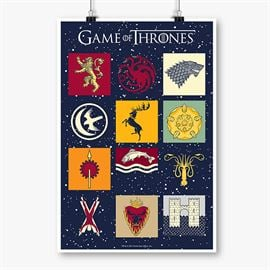 House Sigil Pattern - Game Of Thrones Official Poster