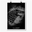 House Stark Sigil Splatter - Game Of Thrones Official Poster